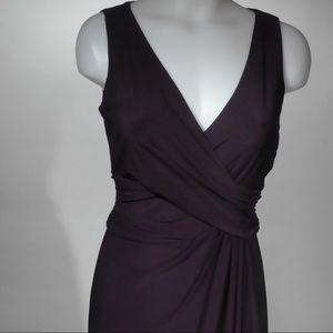 Chaps, Evening Gown, Deep Purple Wrap Detail, Sz 2